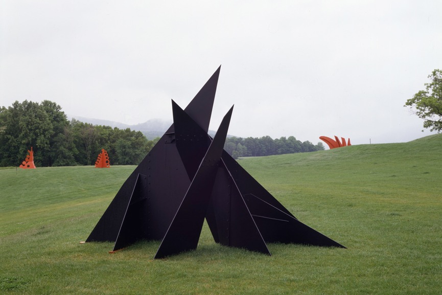 Alexander Calder red and black modern American wire terms