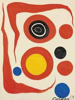 Alexander Calder-Two Red Boomerangs-1973