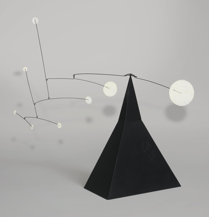 Alexander Calder-White Discs On The Pyramid-1959