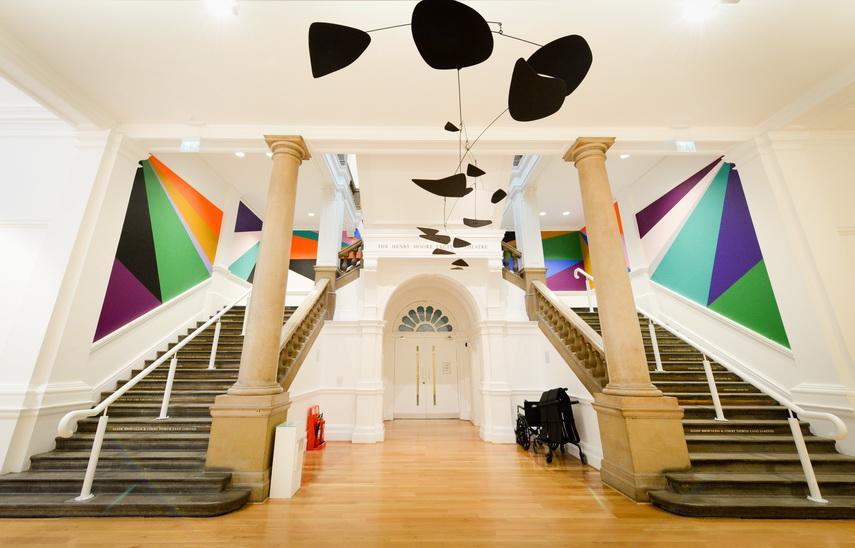 Alexander Calder and Lothar Gotz. yorkshire sculpture international