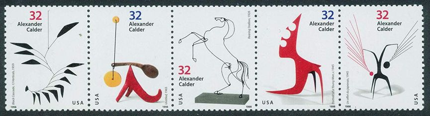 Pane of Alexander Calder stamps