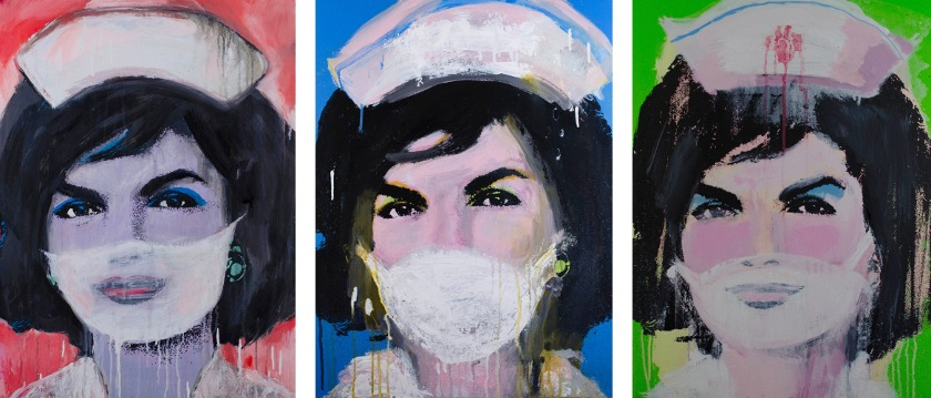 Alexander Key - Nurse Jackie (red, blue and green), 2015 - Courtesy of the artist
