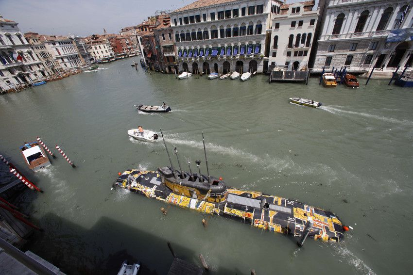 SubTiziano, 2009, Installation on the Grand Canal, Official Collateral Project, 53 biennale exhibition