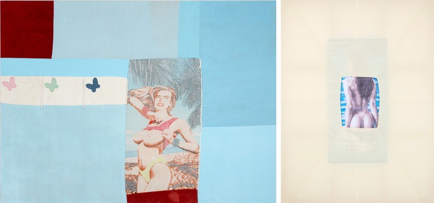 Alexandre da Cunha - Amazons (Painting I), 2014 (Left) - Amazons (Painting X), 2015 (Right). Photo credits CGR Gallery, arts