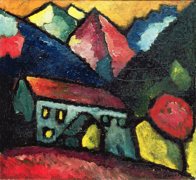 Alexei Yawlensky - House in the Mountains, 1912