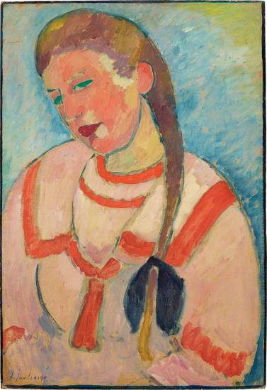 Alexej von Jawlensky-Junges Madchen Mit Zopf-1911