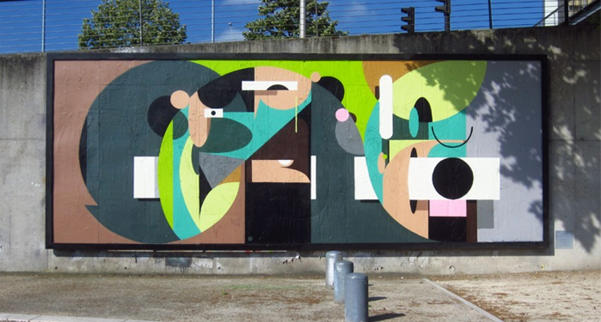 alexeyluka - A mural made for Le MUR XIII Project in the city of Paris, France, 2014 - new - long