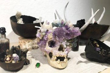 Alexis Palmer Karl - Ritual Skull Amsthyst on Ritual Table