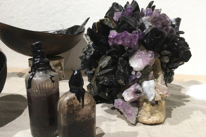 Alexis Palmer Karl - Ritual Skull and Bottles