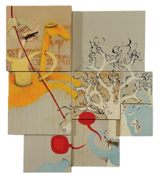 Alexone Dizac - Fallait Pas, 2004 (104 x 90 x 8 cm)