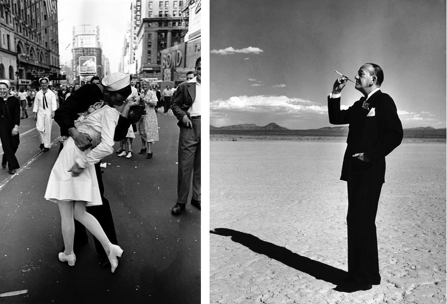 Alfred Eisenstaedt - VJ Day, Times Square, NY, August 14, 1945, Loomis Dean - Noel Coward, Las Vegas, 1955, on view at Atlas Gallery from November 2019 until February 2020.