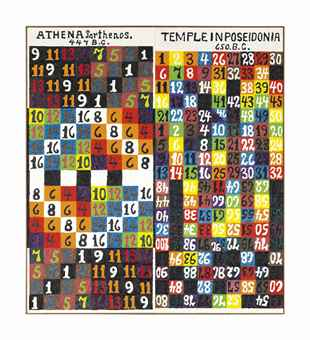 Alfred Jensen-Ancient Temples (Athena Parthenos)-1980