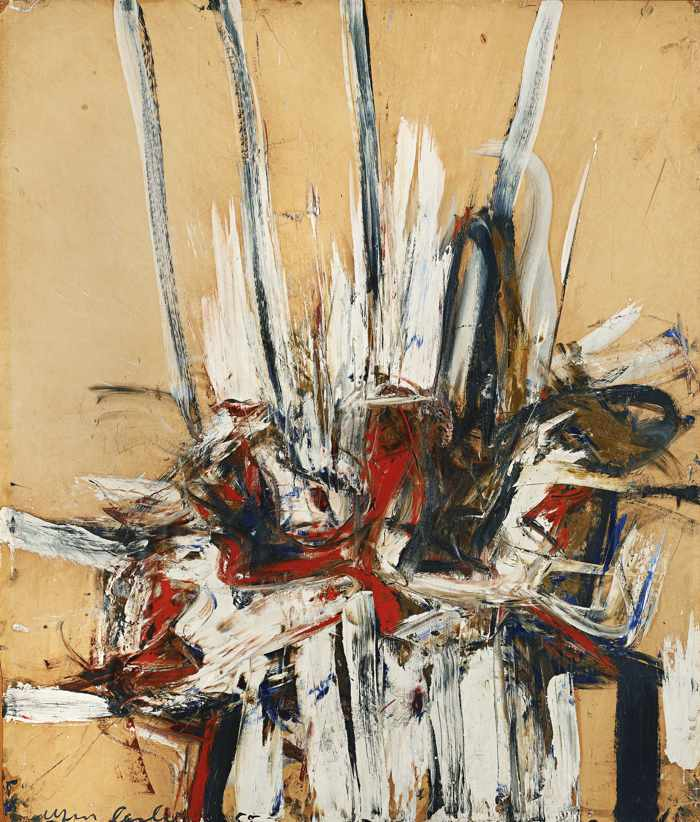 Alfred Leslie-Untitled (Signed and dated '55')-1955