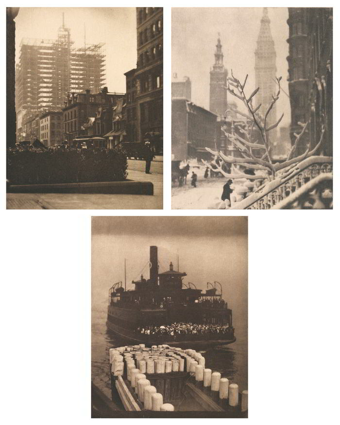 Alfred Stieglitz-Selected Images From Camera Work (Old and New New York, The Ferry Boat, and Two Towers New York)-1913