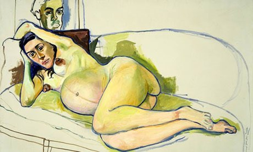 Alice Neel - Pregnant Woman painted Andy in harlem new home estate books painting, check privacy news