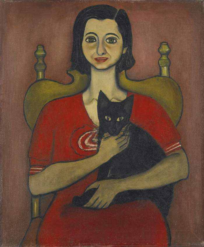 Alice Neel-Untitled (Woman With A Cat)-1932