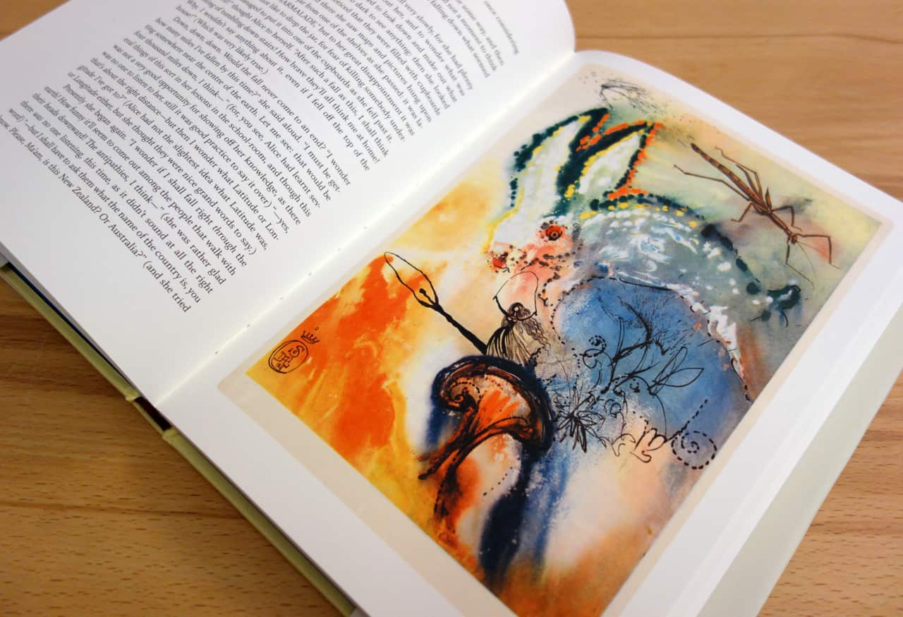 Alice's Adventures in Wonderland' by Lewis Carroll, illustrated by Salvador Dalí; dali books