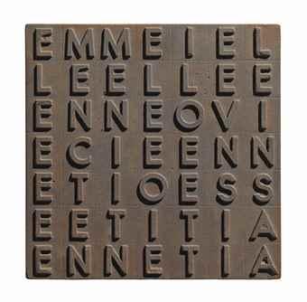 Alighiero Boetti-EMME I ELLE ELLE E...-1970