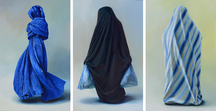 Alina Kunitsyna - Accompaying, 2014 (Left) / The Supporting, 2014 (Middle)  / Luminous, 2014 (Right) home