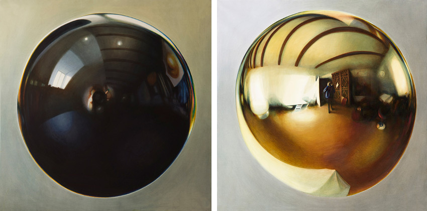 Alina Kunitsyna - Black, 2015 (Left) / Gold, 2015 (Right)