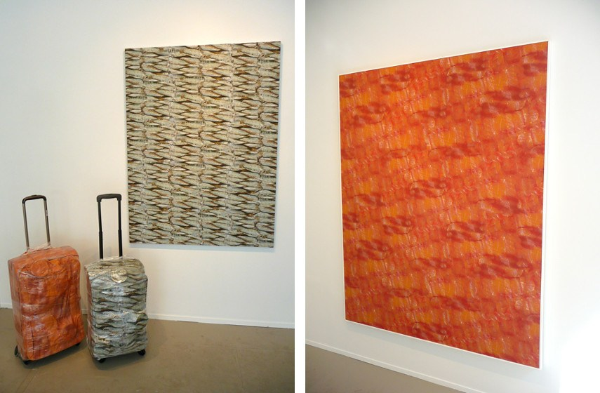 Alisa Baremboym - Sardine Luggage, 2012 and Lox Luggage, 2011 (Left) / Lox, 2010 (Right), photo credits Ceblog.Sva