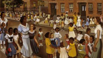 Allan Rohan Crite - School's Out (detail) Harlem Renaissance