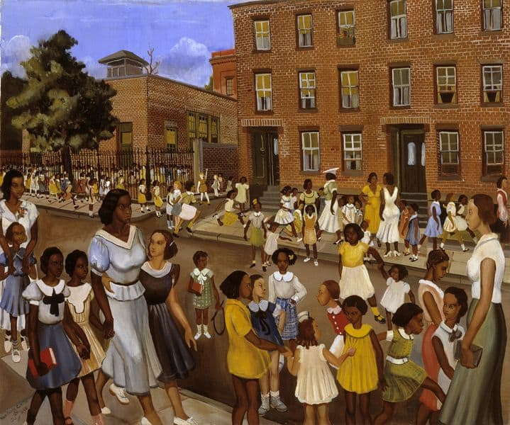 Allan Rohan Crite - School's Out. African Americans