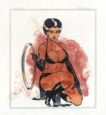 Allen Jones-Leg Splash & Kneeling Woman-1970