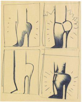 Allen Jones-Sketches For Shoe Box-1968