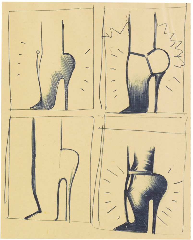 Allen Jones-Sketches For Shoe Box-1968