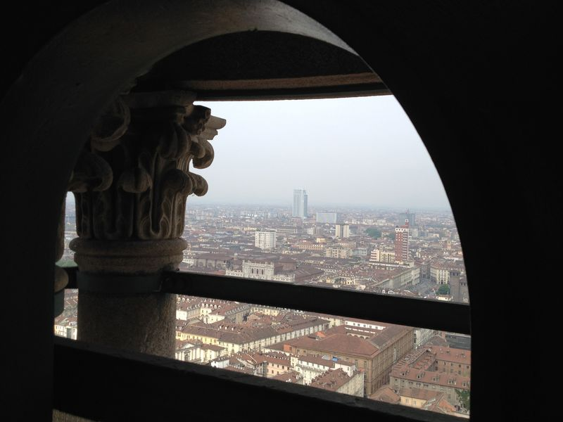 mole antonelliana, the panoramic view photo, the ex synagogue and the tallest building in the city of torino in italy
