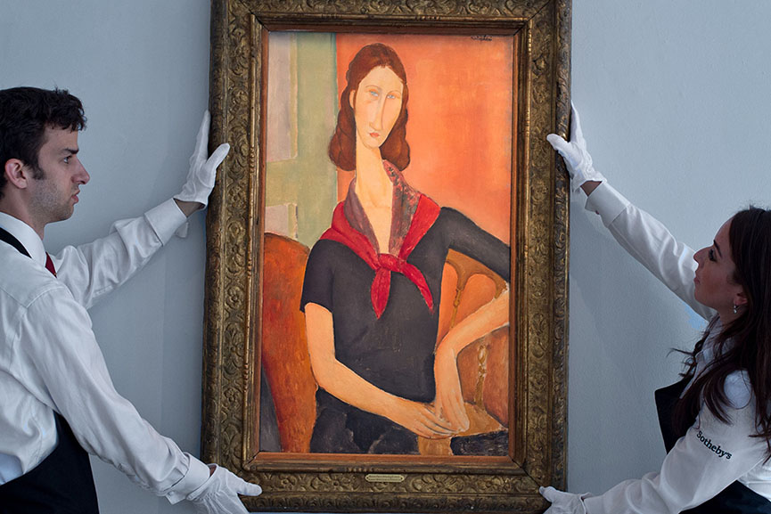 Amedeo Modigliani - Jeanne Hebuterne (Au foulard)