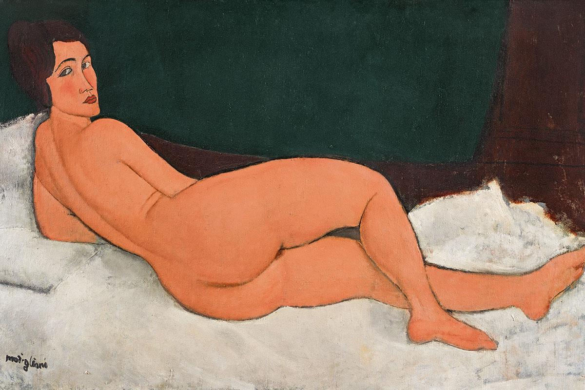 Amedeo Modigliani - Nu couché (sur le côté gauche), 1917