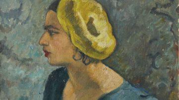 Amrita Sher-Gil - Self-portrait (detail), 1931