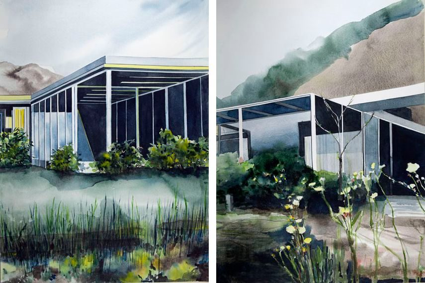 Her art is dedicated to modernist architecture so they it is in direct contact with history