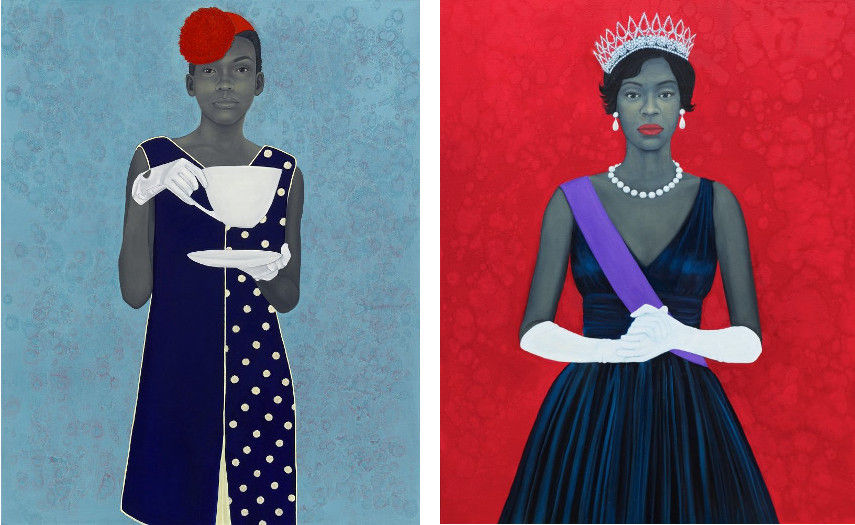 Left: Amy Sherald - Miss Everything (Unsuppressed Deliverance) (2013) / Right: Amy Sherald - Welfare Queen (2012)