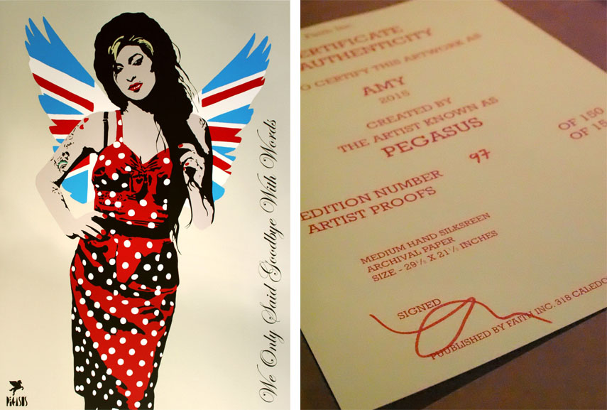 amy winehouse pegasus artist london camden work 2013 home new