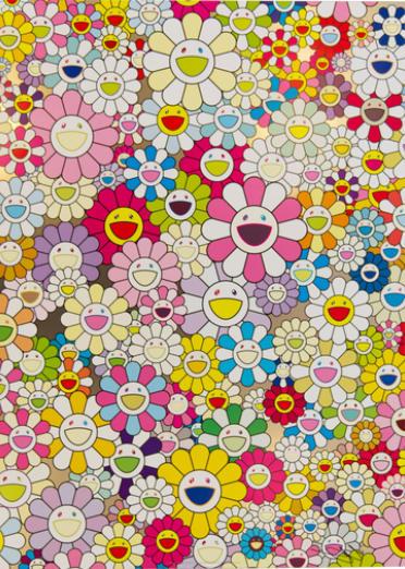 Takashi Murakami-An Homage to Yves Klein Multicolor A, B, C, D, An Homage to Monopink 1960 A, B, C, D, An Homage to Monogold 1960 A, B, C, D, An Homage to IKB 1957 B, C, D-2012
