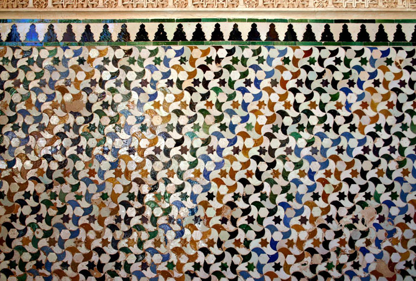 Example of tessellation art in Alhambra, Spain