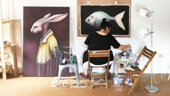 Ana Maria at her studio