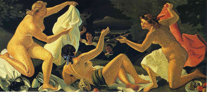 André Derain Work - The Surprise work - Image via pinterestcom