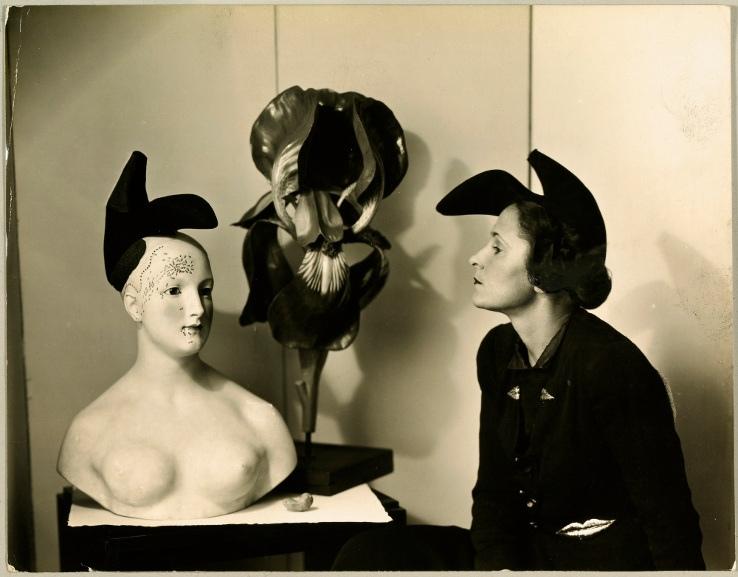 Andre Caillet - Gala with Elsa Schiaparelli's shoe-hat