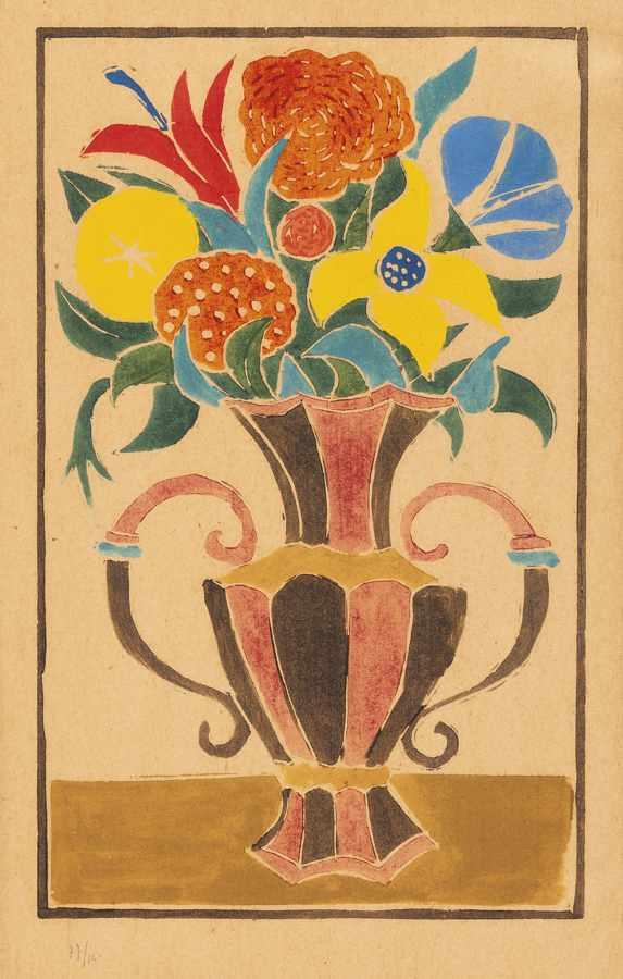 Andre Derain-Bouquet De Fleurs Dans Un Vase-1948
