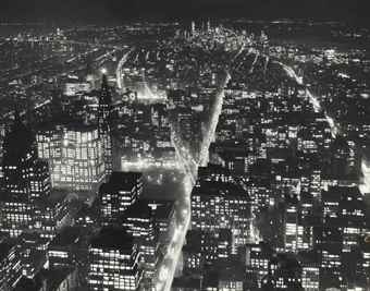 Andre Kertesz-Downtown from the Empire State Building-1940