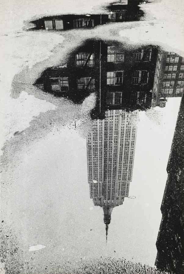 Andre Kertesz-New York (Empire State Building In Puddle)-1967