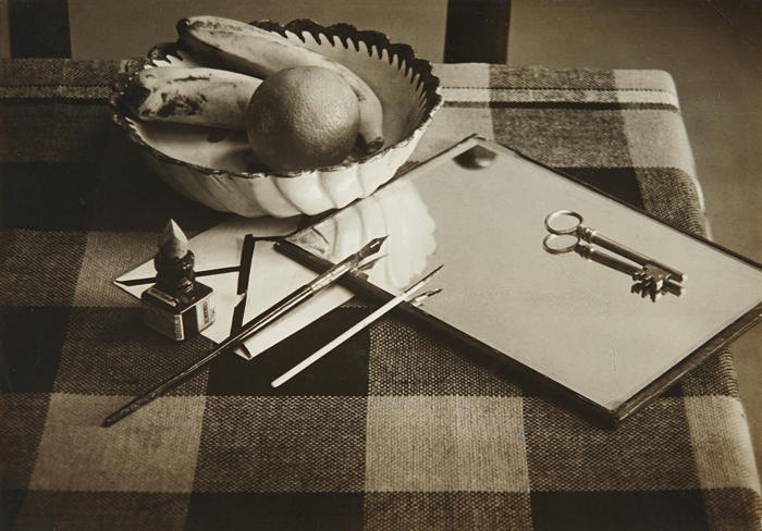 Andre Kertesz-Still Life with Mirror, Pens and Key-1927