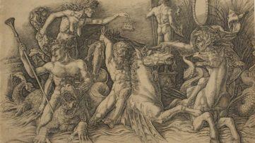 Andrea Mantegna, Battle of the Sea Gods (left side), c. 1485–88