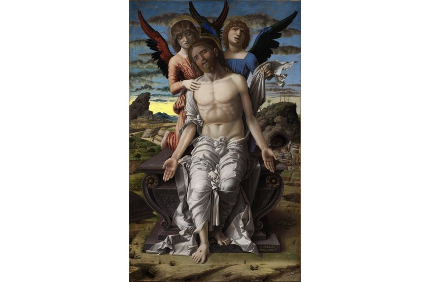 Andrea Mantegna - The Dead Christ supported by Two Angels, 1485–1500