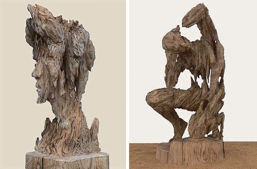 Andreas Kuhnlein - Imperator, 2009 (Left) - Torso, 2009 (Right), photo via Galerie Hegemann