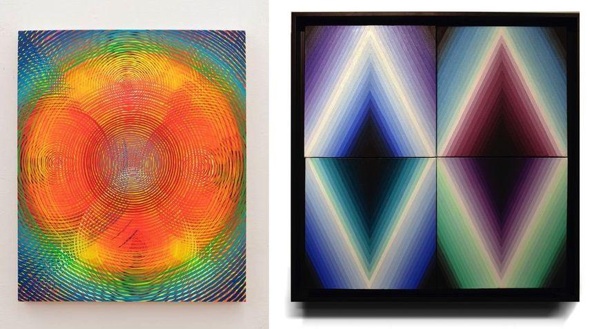 Andrew Schoultz - Radiant Spectrum, 2019, Alessia Innocenti - Cuatro fragmentos II, 2018